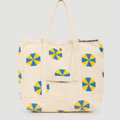 【 THE ANIMALS OBSERVATORY 2017AW 】000641 CANVAS TOTE BAG  / Yellow  x Blue