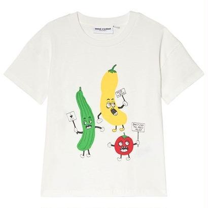 【 mini rodini 2018SS 】Veggie sp ss tee/ white