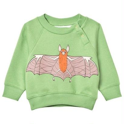 【 mini rodini 2017AW】FLYING BAT SP SWEATSHIRT / Green