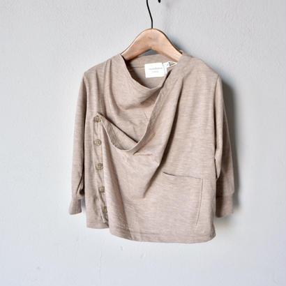 【 nunu forme 18SS 】 ドレープカーディガン (〜145cm)/ beige