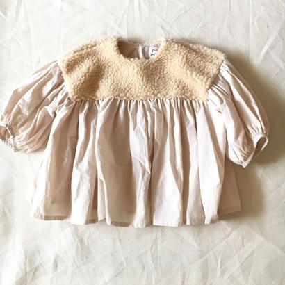 【 folk made 2017AW】#14 boa gather blouse / アイボリーboa×アイボリー