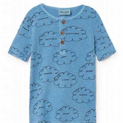 【 Bobo Choses 2018SS 】118025 Clouds Buttons T-Shirt
