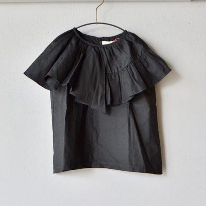 【 folk made 2018SS】No.21 flare blouse / ブラック