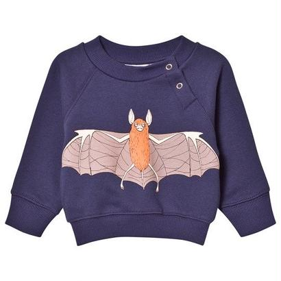【 mini rodini 2017AW】FLYING BAT SP SWEATSHIRT / Navy