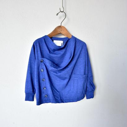 { ピーカブーヤ限定 }【 nunu forme 18SS 】 ドレープカーディガン (〜145cm)/ cobalt