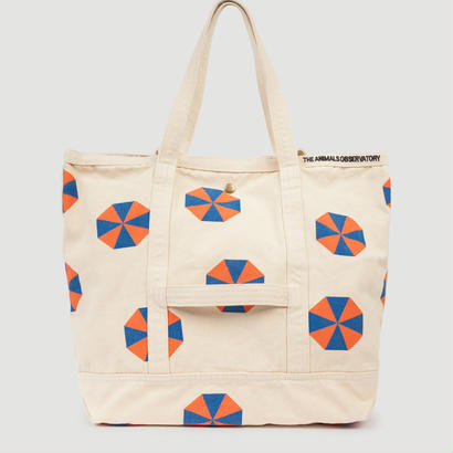 【 THE ANIMALS OBSERVATORY 2017AW 】000641 CANVAS TOTE BAG  / Orange x Blue