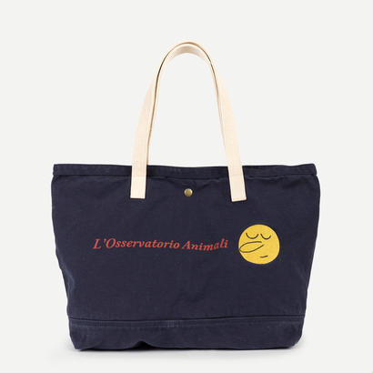 【 THE ANIMALS OBSERVATORY 2017AW 】000640 CANVAS TOTE BAG  / Navy