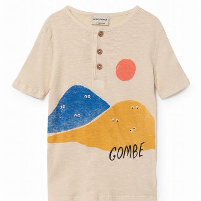【 Bobo Choses 2018SS 】118022 Mountains Buttons T-Shirt