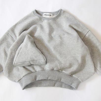 【 UNIONINI 2017AW】 TR-019 ◯△ sweat shirt / Gray / size 1, 2