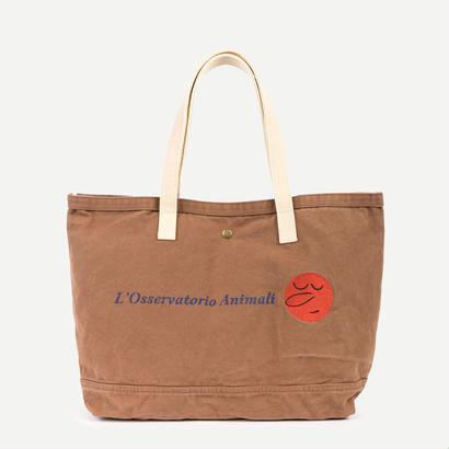 【 THE ANIMALS OBSERVATORY 2017AW 】000640 CANVAS TOTE BAG  / Brown