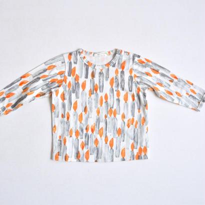 """【ミナペルホネン 17AW】 ロングスリーブTシャツ """"candle"""" / ecru / 110cm〜 (VA8849P)"""