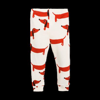 【 mini rodini 2017AW】DOG NB LEGGINGS / 62cm / Off White