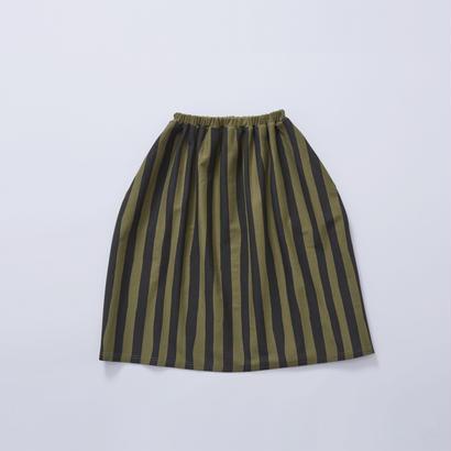 【cokitica 2017AW】cka-172J41  cokitica stripe bloomers  / khaki /  90-100cm - 110-120cm