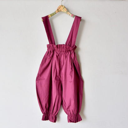 【 folk made 2018SS】No.19 long pants with suspenders / ワイン  / 大人サイズ