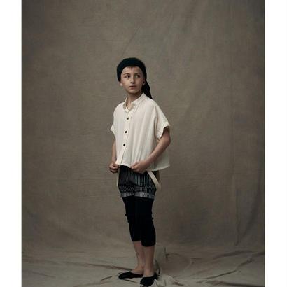 【 Little Creative Factory 18SS 】Ballet Button Shirt / IVORY