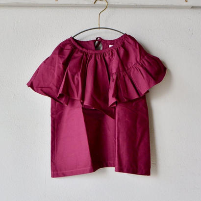 【 folk made 2018SS】No.21 flare blouse / ワイン