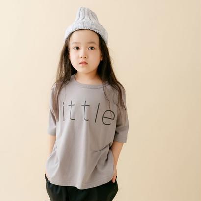 【 nunu forme 18SS 】 リトル Tシャツ(〜145cm)/ Gray Beige
