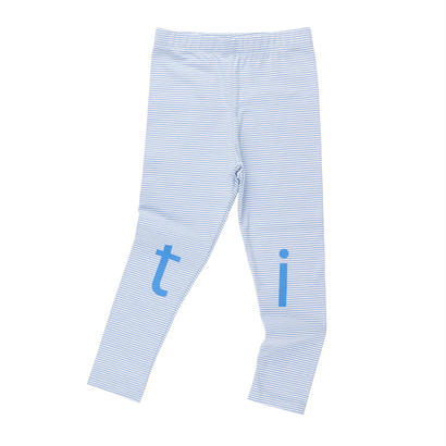 【 tiny cottons 2018SS 】SS18-123 't-i-n-y' logo pant / off-white/cerulean blue