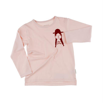 【tiny cottons 2017AW】AW17-098 shoo worries graphic tee / pale pink / bordeaux