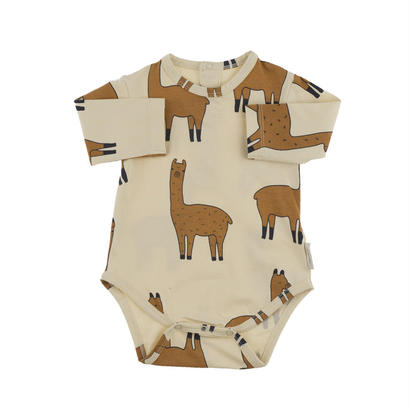 【tiny cottons 2017AW】AW17-039 llamas ls body / beige / nude /6-12m