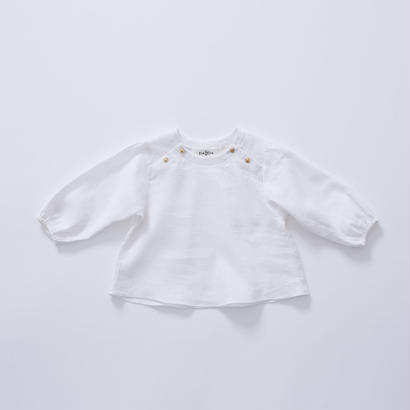 【cokitica 2017AW】cka-172F38  baby blouse  / white / 80-100cm