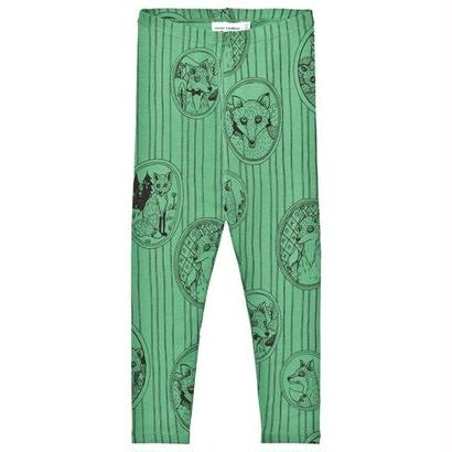 【 mini rodini 2017AW】FOX FAMILY LEGGINGS / Green