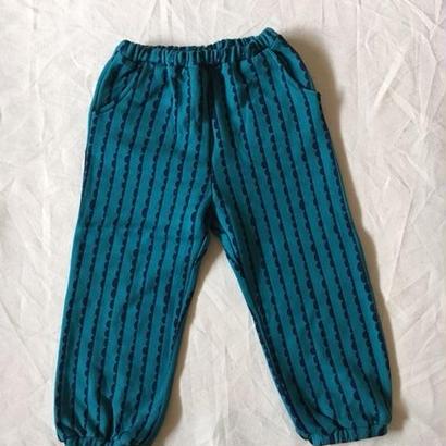 【 folk made 2017AW】#07 nami-nami print pants /  フォレストグリーンプリント
