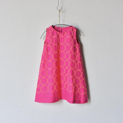 """【 ミナペルホネン 18SS 】 """"tambourine """" ワンピース / pink  / 90 , 100cm   (WS3221P)"""