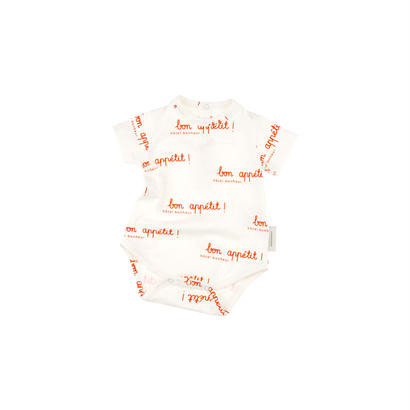 【 tiny cottons 2018SS 】SS18-010 bon appetit SS body / off-white/carmin