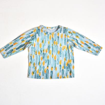 """【ミナペルホネン 17AW】 ロングスリーブTシャツ """"candle"""" / light blue / 110cm〜 (VA8849P)"""