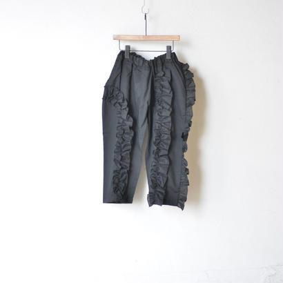 {親子お揃いで}【 UNIONINI 18SS 】 frill long pants / black  / レディースサイズ   (PT-050)