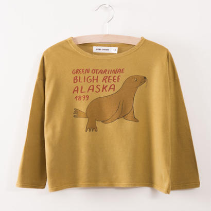 【 bobo Choses 2017AW】217007 T-Shirt  Green Otariinae