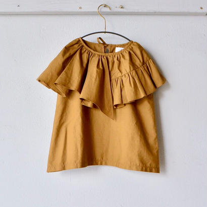 【 folk made 2018SS】No.21 flare blouse / ブラウンカーキ