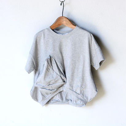 【 UNIONINI 2018SS 】 マルサンカク T-shirt / Grey / ladies
