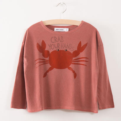【 bobo Choses 2017AW】217004 T-Shirt Crab your Hands