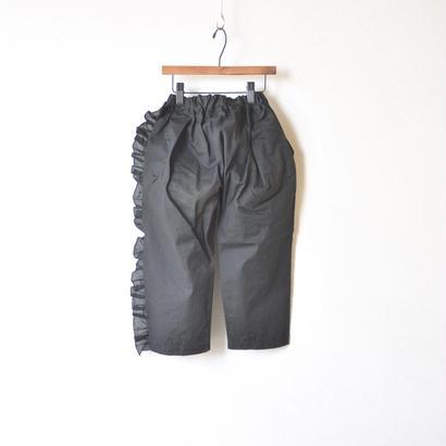 【 UNIONINI 18SS 】 frill long pants / black  / 90〜140cm   (PT-050)