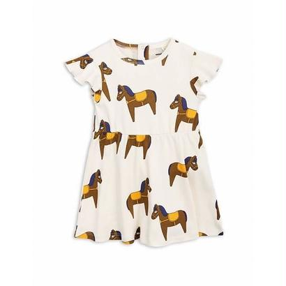 【 mini rodini 2018SS 】Horse dress / yellow