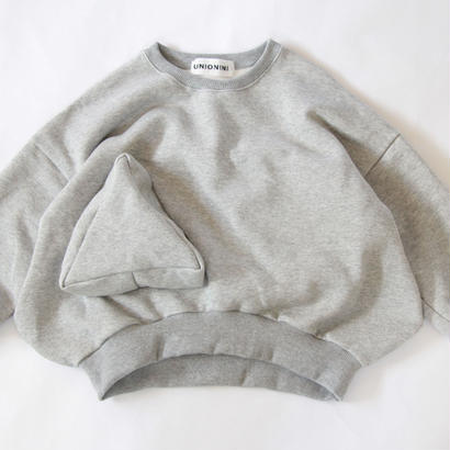 【 UNIONINI 2017AW】 TR-019 ◯△ sweat shirt / Gray / size L1