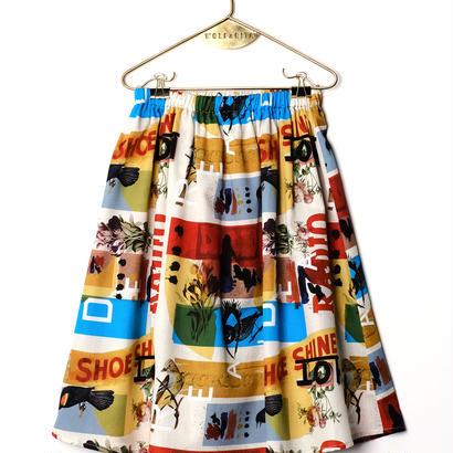 【 WOLF&RITA 2018SS 】LURDES - Skirt / ED RUSCHA