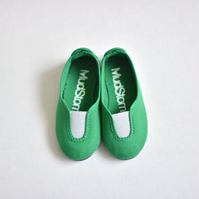 【 La Cadena 2017SS 】 SLIP ON / K.Green x Grey / size 13〜19cm