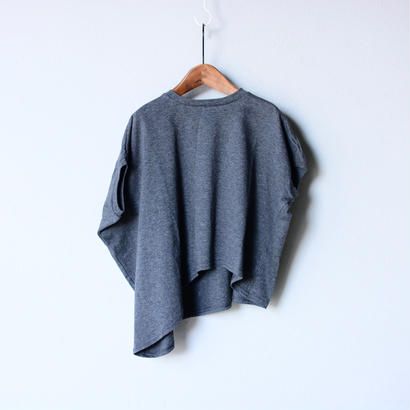 【 nunu forme 18SS 】 ライトロング変型 T  / Top Charcoal / Ladies