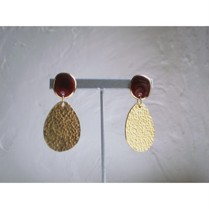 """FALL""【brass earrings Red】[PEKI!RARIGON]"