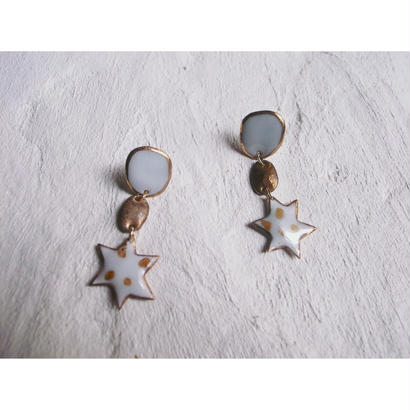 【milky star earrings】[PEKI!RARIGON]