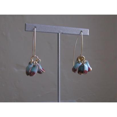 【5 stone earrings】ピアス[PEKI!RARIGON]