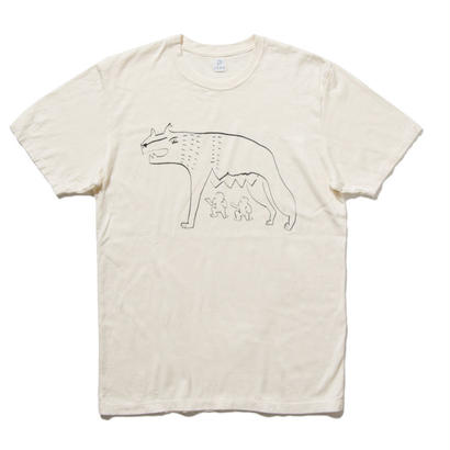 EN-T008:狼イラストTシャツ(BLACK)