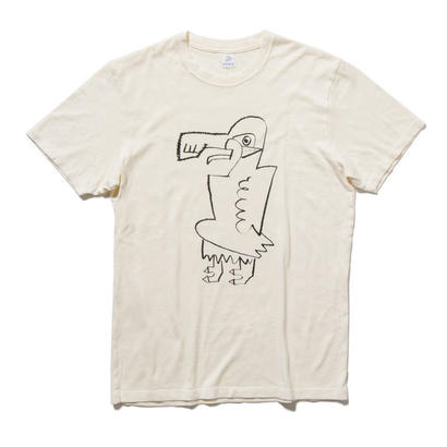EN-T009:鳥イラストTシャツ(BLACK)
