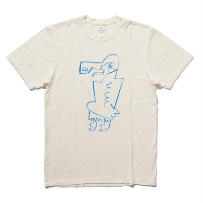EN-T009:鳥イラストTシャツ(BLUE)