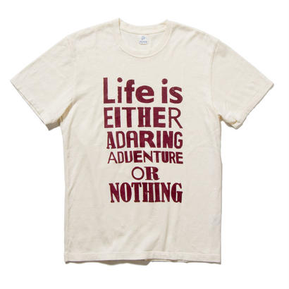 EN-T010:タイポグラフィTシャツ(BURGUNDY)