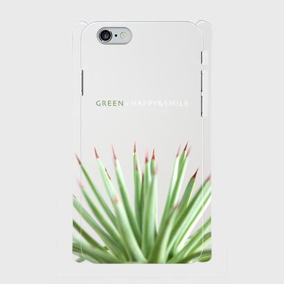 """iPhone5/5s/SE,6/6s用ケース """"GREEN=HAPPY&SMILE"""""""