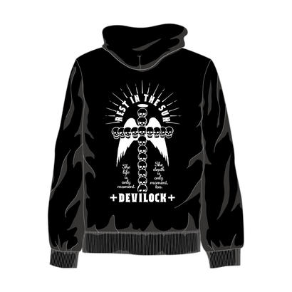 BLACK REST IN THE SUN HOODIE